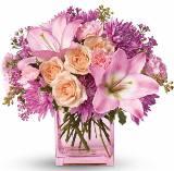 Розовий букет схема для вишивання