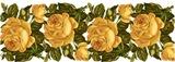 Бордюр з жовтих роз схема для вишивання