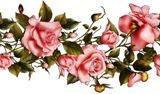 Бордюр з розових роз схема для вишивання