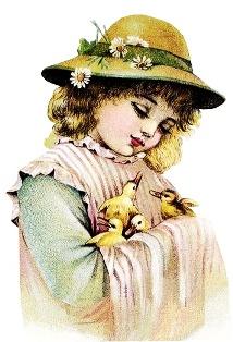 Дівчинка з гусенятами схема для вишивання