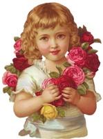 Дівчинка з трояндами схема для вишивання