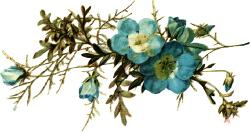 Голубі квіти схема для вишивання