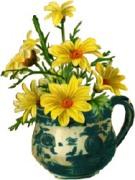 Чашка с цветами схема для вишивання