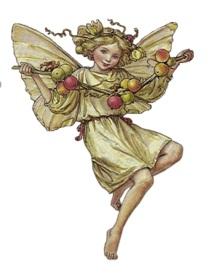 Фея з ягодами схема для вишивання