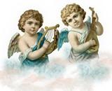 Ангели в хмарах схема для вишивання