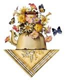 Чайник з квітами схема для вишивання