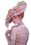 Пані в капелюшку схема для вишивання