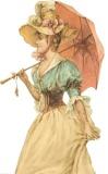 Дама з парасолькою схема для вишивання