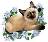Котик схема для вишивання