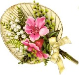 Квітковий подарунок схема для вишивання