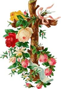 Хрест з розами схема для вишивання