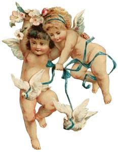 Ангели з голубами схема для вишивання