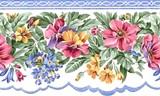 Бордюр з літніми квітами схема для вишивання