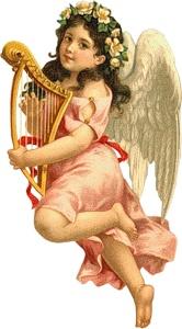 Ангел з арфою схема для вишивання